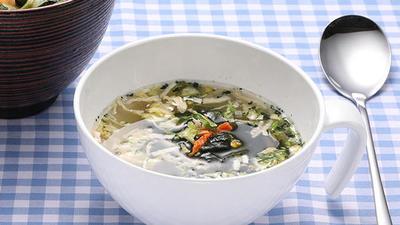 紀ノ国屋 天然わかめと7種の野菜スープ